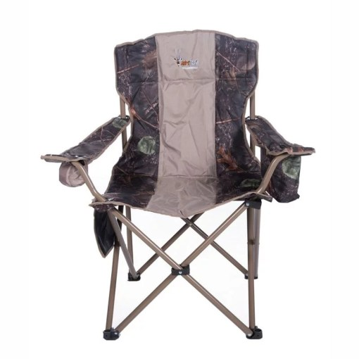 Afritrail Wildebeest Camo Padded Chair with Cooler
