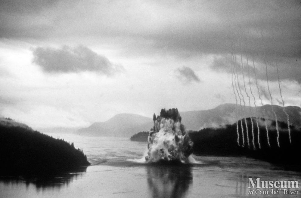The Ripple Rock Explosion Campbell River Museum Photo