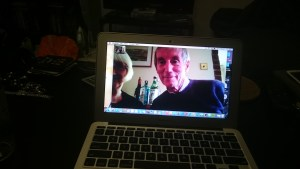 Here's my Dad Facetiming on a real Macbook Air. me = #fanboy