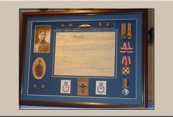 Military and Memorabilia framed at Campbelltown Framing Gallery