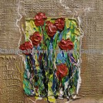 Original Arwork for Sale at Campbelltown Framing Gallery thick oil red flowers