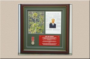 medal framing and certificate at Campbelltown Framing Gallery