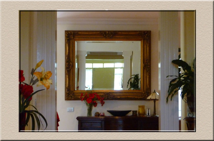 custom mirrors at Campbelltown Framing Gallery