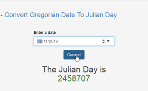 Convert Gregorian Date To Julian Day