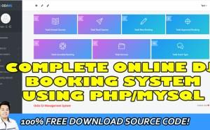 online dj booking system in php mysql
