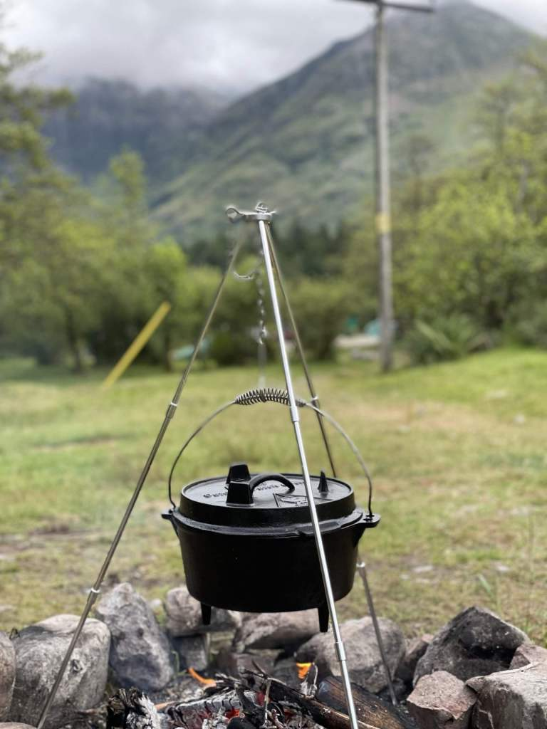 Dutch Oven on a Campfire
