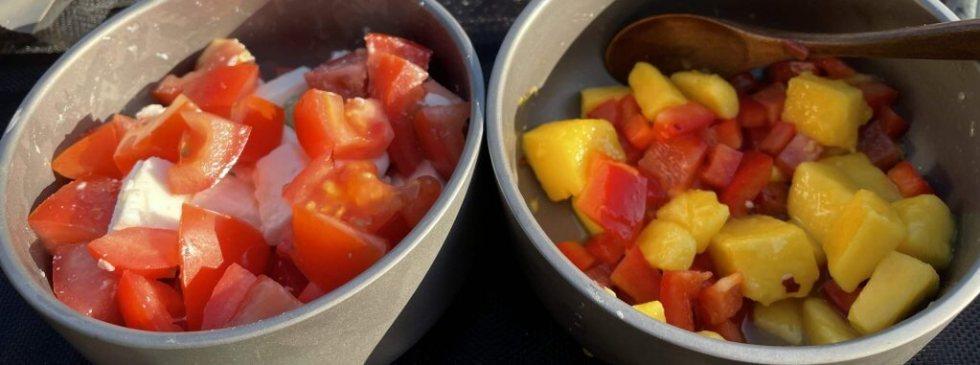Feta Salad & Mango Salsa