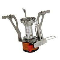 Camping Stove - THZY Ultralight Portable Outdoor Backpacking Camping Stove with Piezo Ignition(Butane/Butane Propane Canister Compatible)