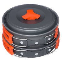 Arcadia Outdoors Cookware Mess Kit for Camping, 11 Piece Cookset, Lightweight, Durable, & Compact, Includes Pots, Bowls, Utensils, & Firestarter