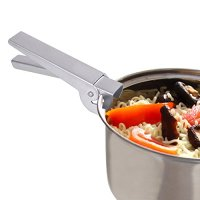 Pot Lifter Aluminum Pot Holder Pot Clip Hand Clip Cooking Pan Grip for Camping Hiking Picnic