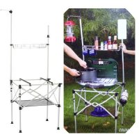 COLEMAN Deluxe Portable Aluminum Pack-Away Camping Adjustable Height Grill Stand