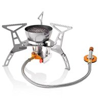 Ouspots Camping Stove Portable Collapsible Windproof Outdoor Backpacking Gas Camp Stove Mini Split Furnace 2900W