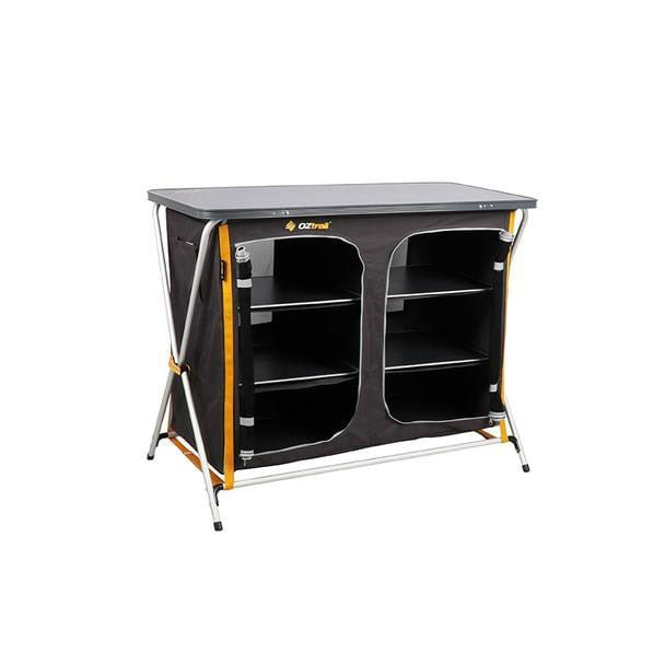 OZtrail Deluxe 3 Shelf Double Cupboard