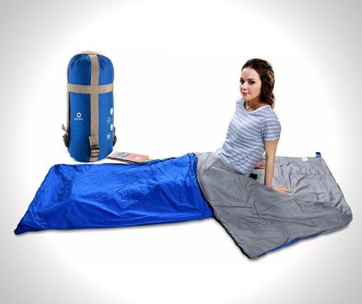 ECOOPRO Warm Weather Sleeping Bag - Outdoor Camping