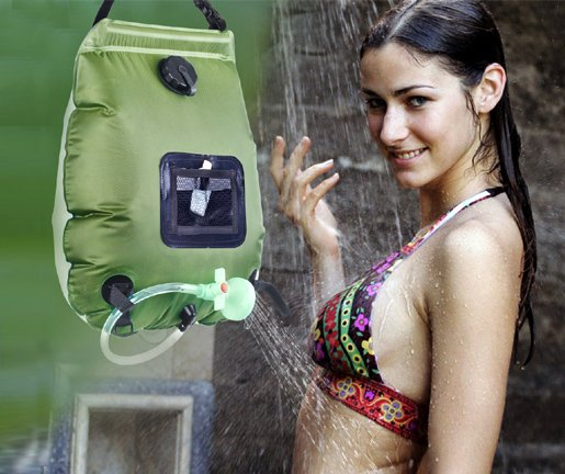 Portable camping shower Solar Shower Bag
