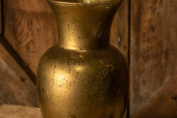 #2 Gold Glass Vase