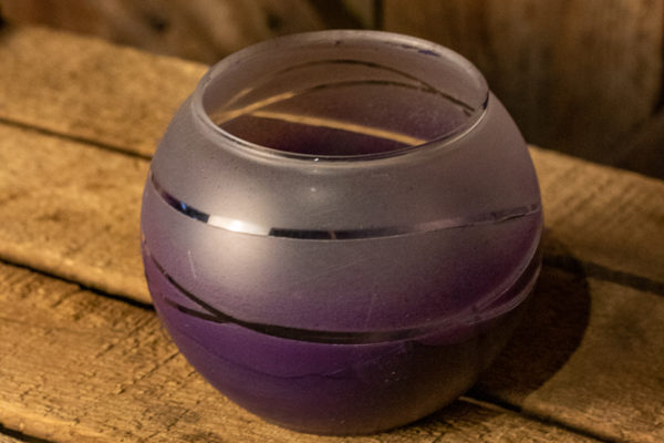 #9 Round Purple Glass Vase
