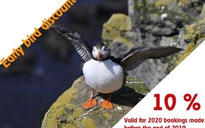 10 % Early bird discount