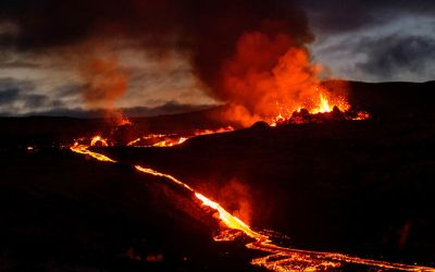 Third Volcano in Iceland