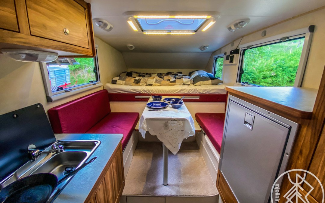 Brand new Camper on the way to Iceland