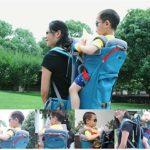 LG&S Multifonctionnel bébé Tout-Petits à Dos de randonnée Porteurs Porte-bébés extérieur imperméable avec Sun Shade Cover Hold Up pour 44lbs,Bleu