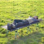 ZHENN Lit de Camping Pliant Ultra-léger, Berceau Portable en Alliage d'aluminium, mobilier d'extérieur, adapté aux Loisirs de Plein air et au Camping