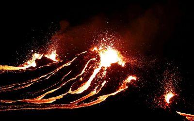 Der Vulkan ist ausgebrochen