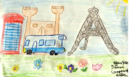 Valeria Versace anni 9: in giro per l'Europa