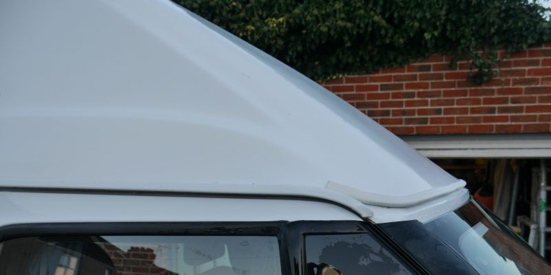 Roof trim replacement on a motorhome campervan