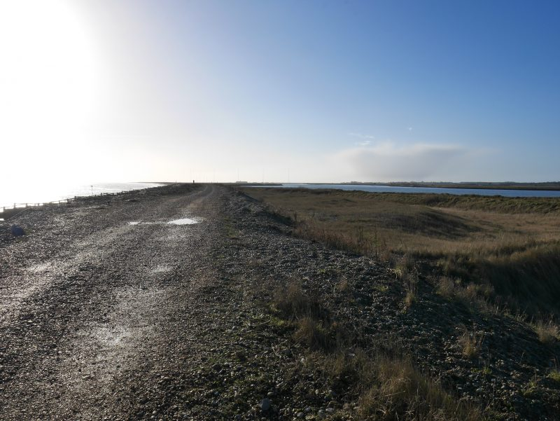 Orford Ness nature reserve from Aldeburgh end