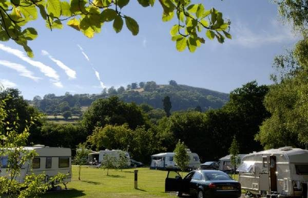 Pandy caravan club site in abergavenny monmouthshire wales