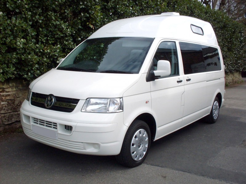 Campervan by Volkswagen with fixed high top roof