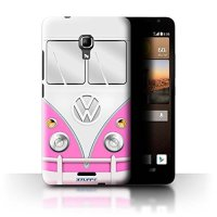 STUFF4 Phone Case / Cover for Huawei Ascend Mate2 4G / Pink Design / VW Camper Van Collection