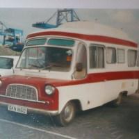 Classic Ford Camper van Dublin port 1997