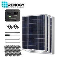 Solar Panel 300 Watt Starter Kit 12V RV Boat 100W Watts Poly Off Grid System