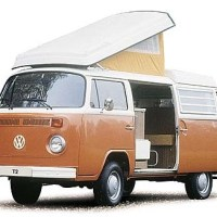 The classic VW T2 campervan