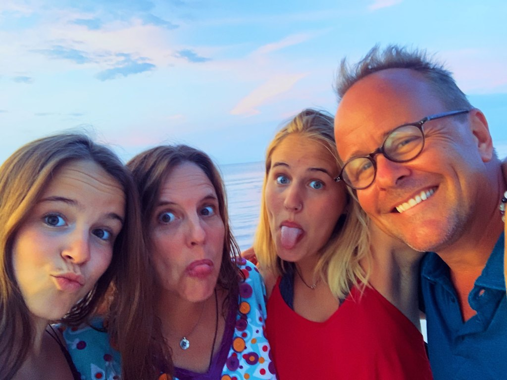 Doug, his wife and two daughters