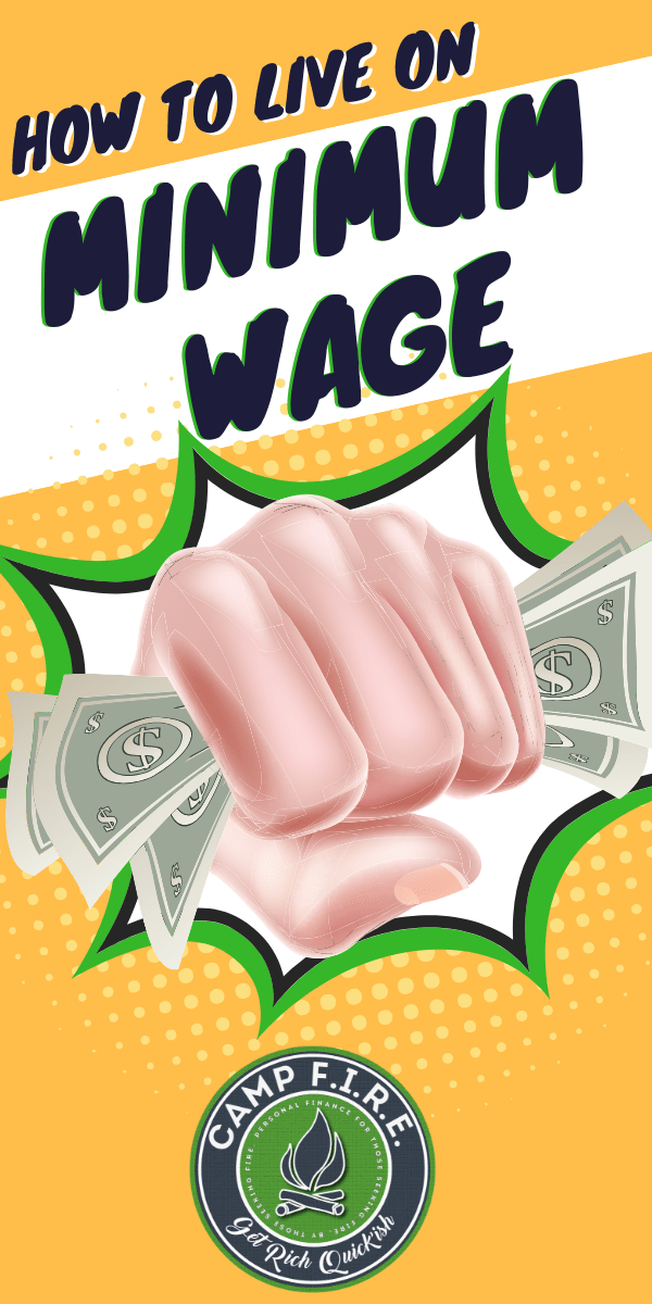 Living on #MinimumWage can be tough. Trying to make ends meet when you've got an #EntryLevelJob and don't have a #salary can be tough.  Here are fore tips to help you stop living #paychecktopaycheck and start to thrive financially.