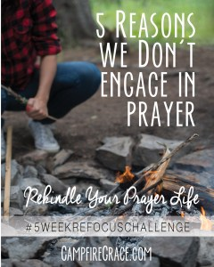 5 reasons we don't engage in prayer pin