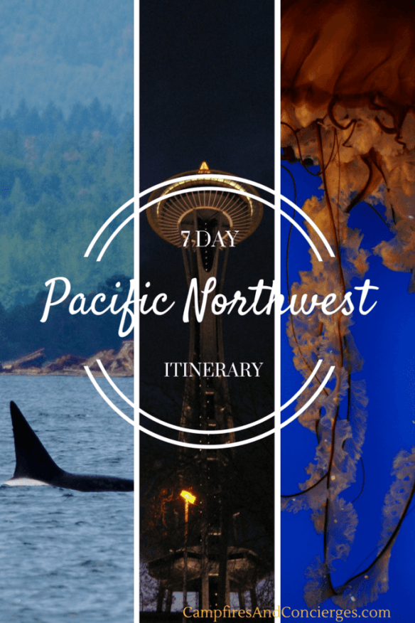 Pacific Northwest Vacation Itinerary Pin