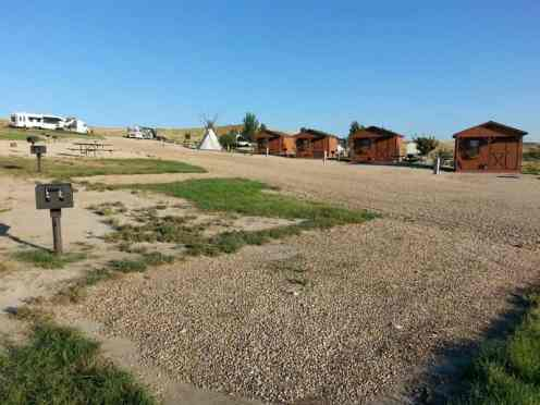7TH Ranch RV Camp & Historic Tours near Garryowen Montana Backin Sites