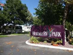 Heritage RV Park sign