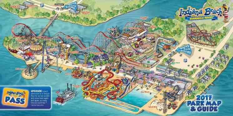Indiana Beach Boardwalk Resort Park Map