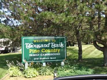 Pine Country sign on road