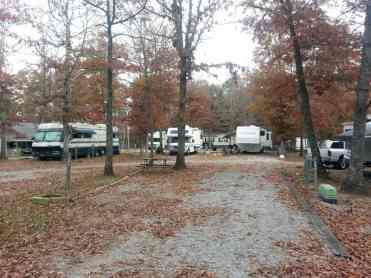 Bean Pot Campground in Crossville Tennessee pull thrus
