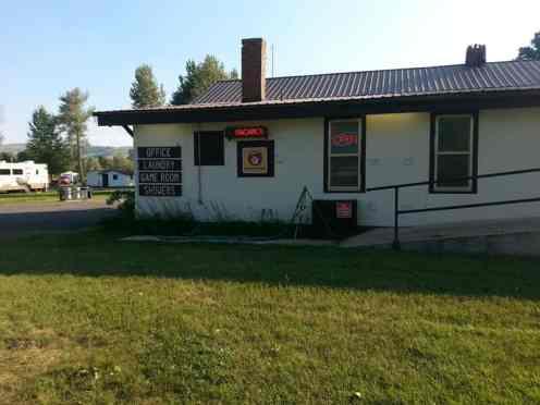 Bernie & Sharon's Riverfront RV Park in Garrison Montana Deer Lodge Main Office