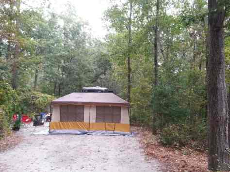 Blythe Island Regional Park in Brunswick Georgia Tent Site