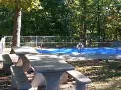 Branson View Campground in Branson Missouri Pool Area (closed in this picture for season)