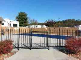 Brookside RV Resort in Pigeon Forge Tennessee Pool (Closed for season in this pic)