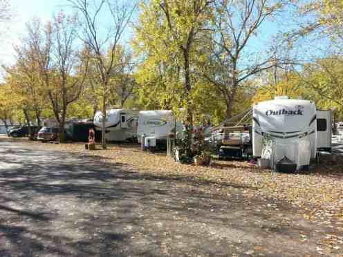 Claboughs Campground in Pigeon Forge Tennessee spacing